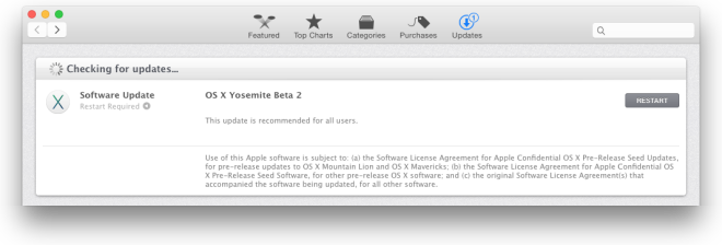 OS X Yosemite Beta 2 Update
