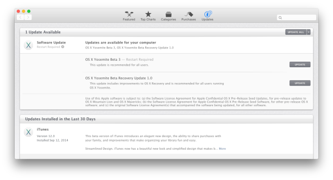 OS X Yosemite Beta 3 Update